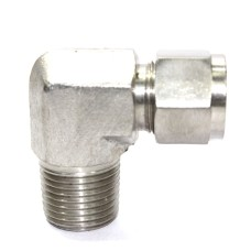 SS Male Elbow Connector Compression Double Ferrule OD Fitting Stainless Steel 304.